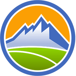 Circular Mountain Logo for Dasher Website Design